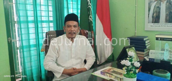 Ketua PCNU Karawang KH. Ahmad Ruhyat Hasby, S.Ag