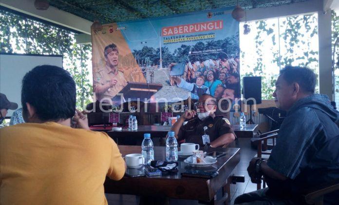 Talkshow Satgas Saberpungli Kabupaten Bandung, di Grand Sun Shine Soreang, Rabu (12/15/2020).