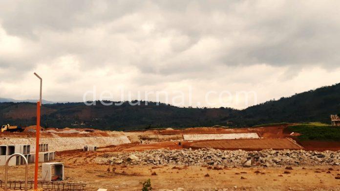 Lokasi proyek pengerjaan pabrik milik PT. Pratama Abadi di Cijolang Limbangan Garut.