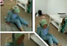 Kolase : Tangkapan layar video, seorang PMI asal Pameungpeuk Garut, tertahan di Saudi Arabia, tak mampu bekerja dan jalan pun ngesot karena disiksa majikan.