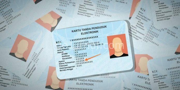 Ilustrasi e-KTP.
