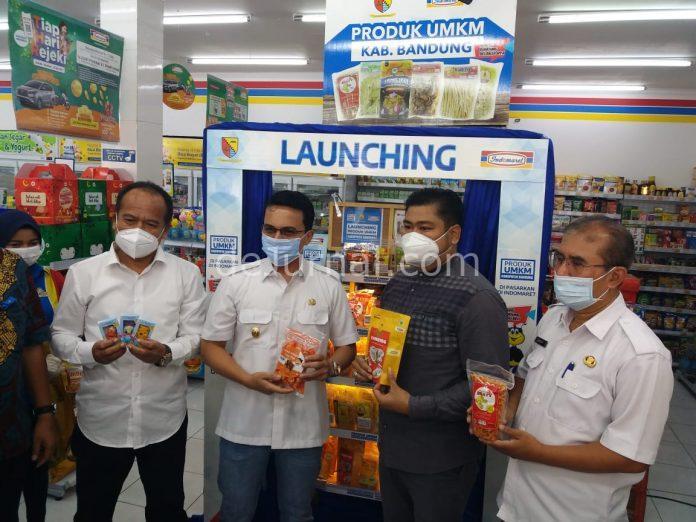 Wakil Bupati Bandung Sahrul Gunawan saat Launching UMKM Kabupaten Bandung.