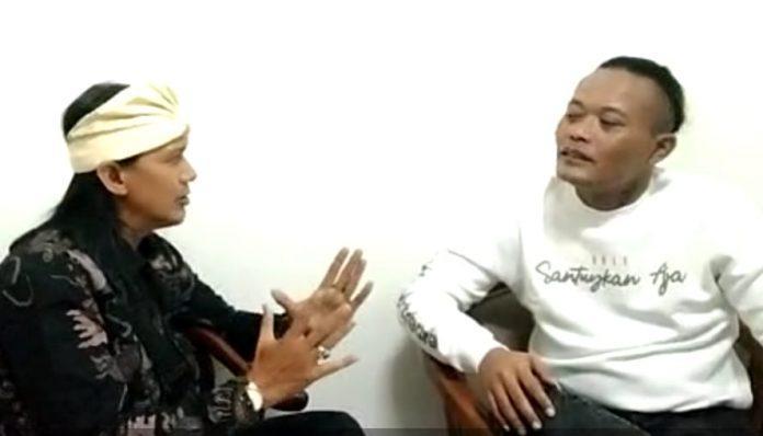 Komedian ternama tanah air, Sule saat diwawancarai wartawan di stasiun TVRI Jabar Kamis malam (29/4/2021)
