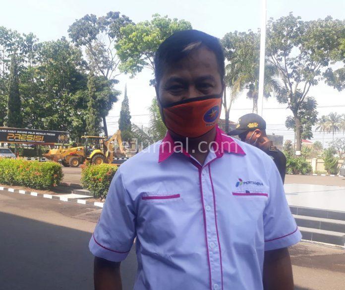 Humas Hiswana Migas Kabupaten Garut, Evi Hartaz Alfian. (Foto : Undang/dejurnal.com)