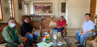 Ketua dan Pengurus SMSI kunjungi Wakil Ketua MPR RI, Ahmad Muzani bahas kasus penembakan wartawan.
