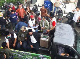 Lima Calkades Sukamenak, Kecamatan Margahayu, Kabupaten Bandung diarak untuk dikenalkan kepada warga. (Sopandi/dejurnal.com)