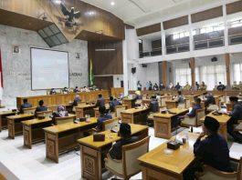 Rapat Paripurna di Gedung Paripurna DPRD Kabupaten Bandung.